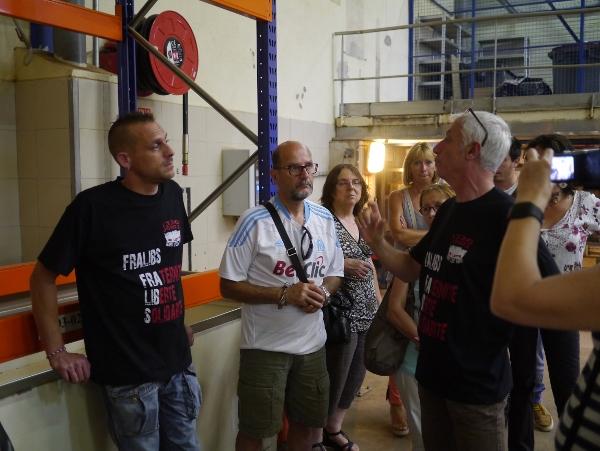 Les Fralib discutent avec les ex-Pilpa qui produisent désormais les glaces La Belle Aude
