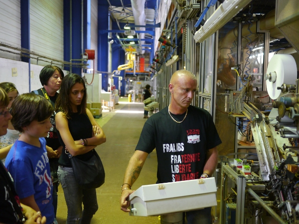 Visite de l'usine en petits groupes