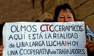 La longue lutte des travailleur-se-s de l'entreprise Olmos Ceramicos aujourd'hui récupérée et transformée en coopérative.